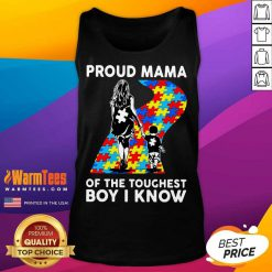 Top Proud Autism Mama Of The Toughest 5 Tank Top