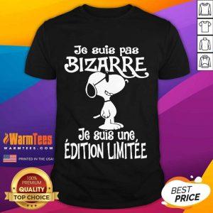 Snoopy Je Suis Pas Bizarre Shirt