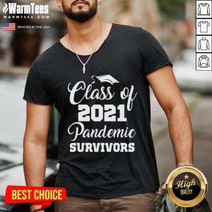 Awesome Class Of 2021 Pandemic Survivors V-neck