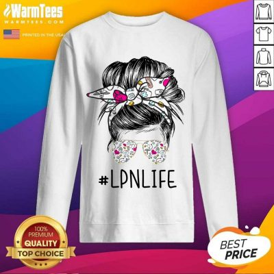 Awesome Girl Glasses LPN Life Sweatshirt