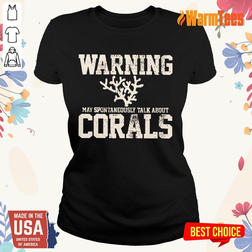 Awesome Warning Coral Aquarist Ladies Tee
