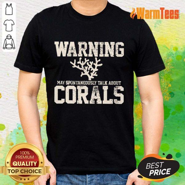 Awesome Warning Coral Aquarist Shirt