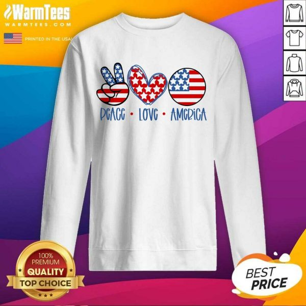 Fantastic Peace Love America Sweatshirt