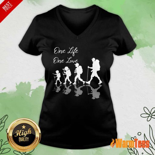 Funny Hiking One Life One Love V-Neck