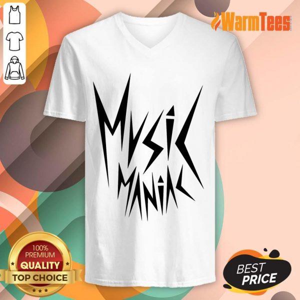 Funny Music Maniac V-Neck