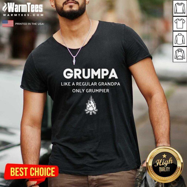 Good Grumpa Like A Regular Grandpa Only Grumpier V-neck