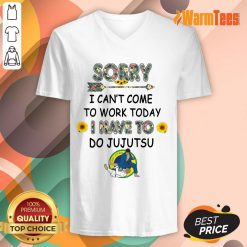 Good Sorry I Can't I Come To Work Today I Have To JuJutsu Flower V-Neck