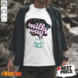 Happy Galaxy Milky Way Milk Bottle Shirt