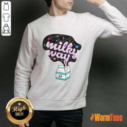 Happy Galaxy Milky Way Milk Bottle Sweater
