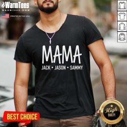 Happy Mama Jack Jason Sammy V-neck