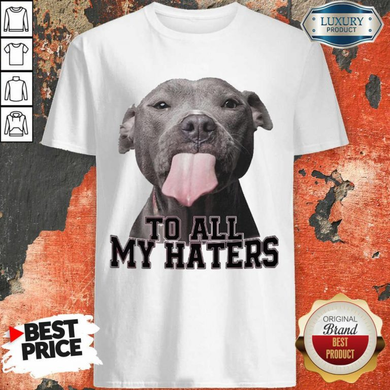 Happy Pitbull To All My Haters Shirt