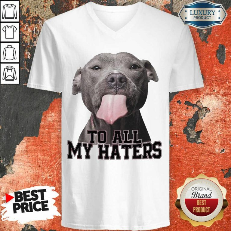 Happy Pitbull To All My Haters V-Neck