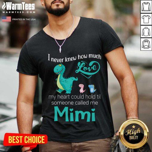Happy Saurus I Never Knew How Much Love Mimi V-neck