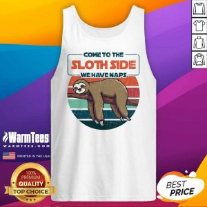 Hot Come To The Sloth Side We Have Naps Vintage Tank Top