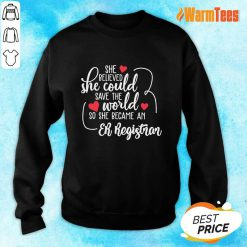 Hot She Could Save The World So She Became A Er Registrar Sweater