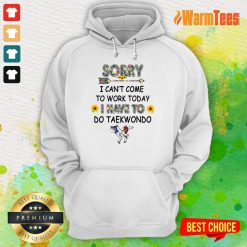 Hot Sorry I Can't I Come To Work Today I Have To Taekwondo Hoodie