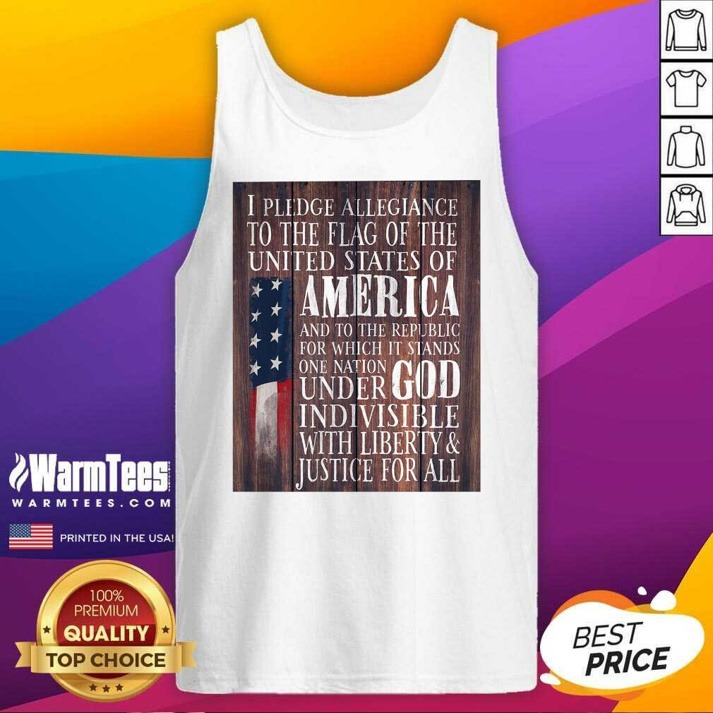 Nice American Flag One Nation Under God Indivisible Tank Top
