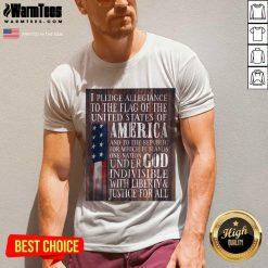 Nice American Flag One Nation Under God Indivisible V-neck