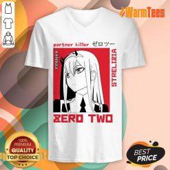 Nice Partner Killer Strelitzia Zero Two Poster V-Neck