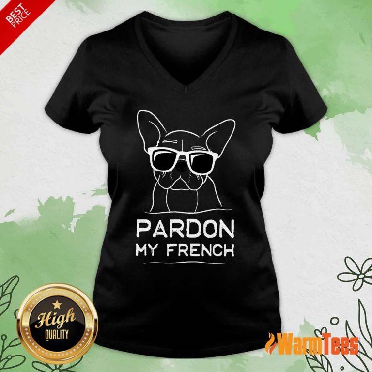 Original Pardon My French Bulldog V-Neck