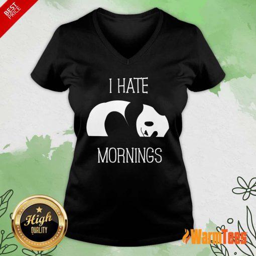 Panda I Hate Mornings V-neck