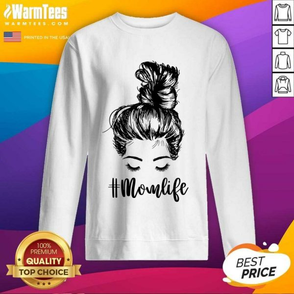 Perfect Mom Life Hair In Bun Sweatshirt