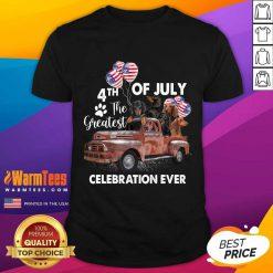 Premium 4th Of July The Greatest Celebration Ever Dachshund Shirt