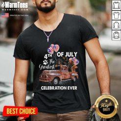 Premium 4th Of July The Greatest Celebration Ever Dachshund V-Neck