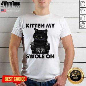 Premium Black Cat Kitten My Swole On Shirt