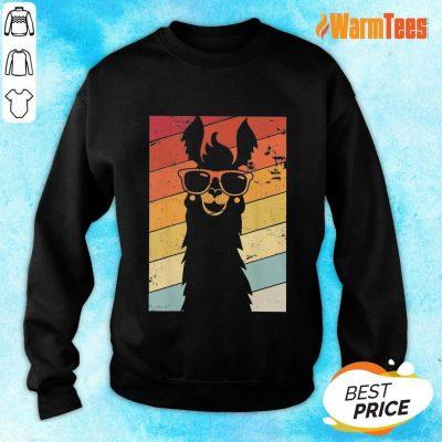 Premium Llama Wear Glasses Vintage Sweater