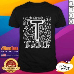 Premium Teacher Typography 2021 Shirt