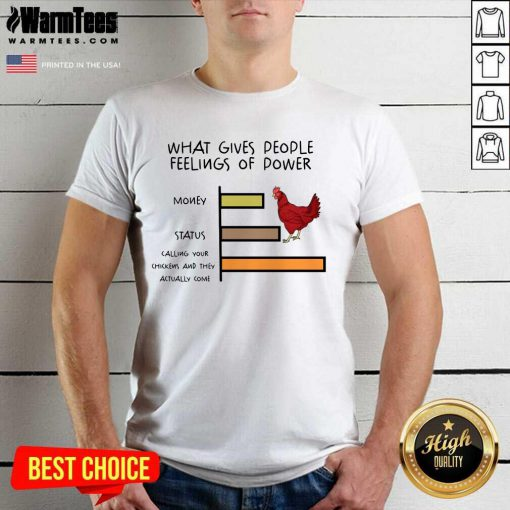 Pretty Chicken What Gives People Feelings Of Power Shirt