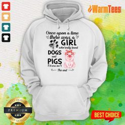 A Girl Who Loved Dogs And Pigs Hoodie