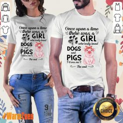 A Girl Who Loved Dogs And Pigs Ladies Tee