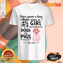 A Girl Who Loved Dogs And Pigs V-neck