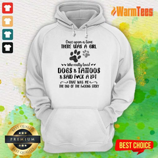 A Girl Who Really Loved Dogs And Tattoos Hoodie