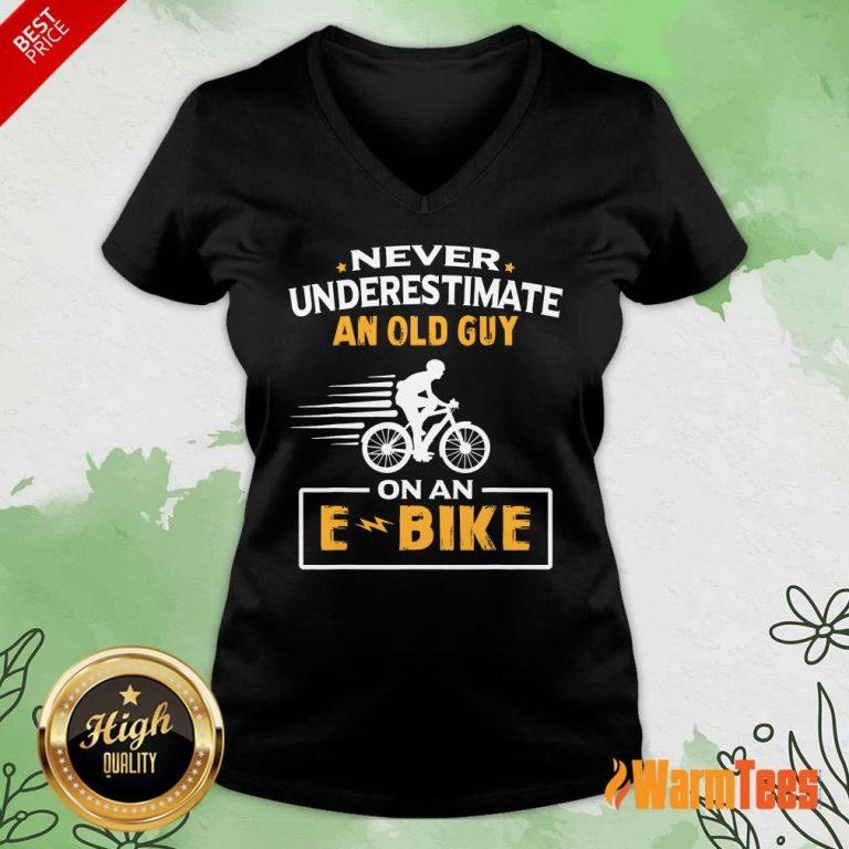 An Old Guy On An E Bike V-neck