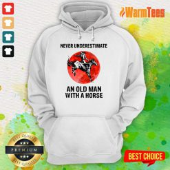 An Old Man With A Horse Hoodie