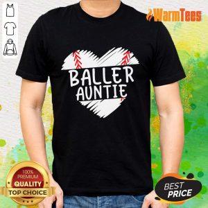 Aunt Baseball Heart Shirt