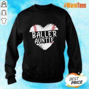 Aunt Baseball Heart Sweater
