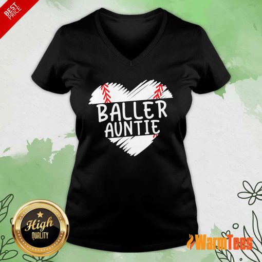 Aunt Baseball Heart V-neck