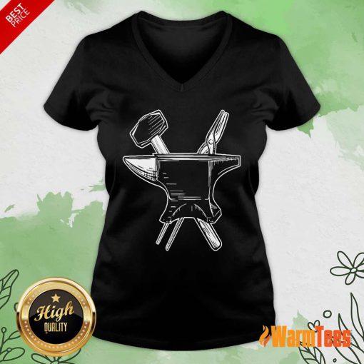 Blacksmith Tools V-neck
