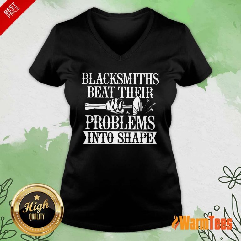 Blacksmiths Beat Their Problems Into Shape V-neck