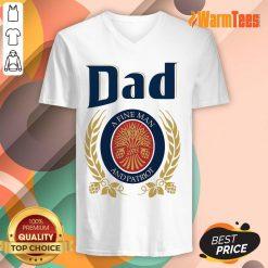 Dad A Fine Man And Patriot V-neck