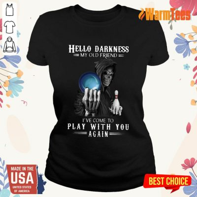 Devil Bowling Hello Darkness My Old Friend Ladies Tee