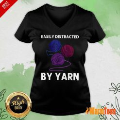 Easily Distracted By Yarn V-neck