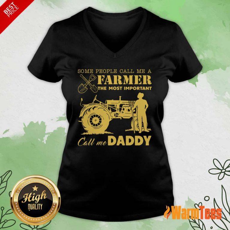 Farmer Important Call Me Daddy V-neck