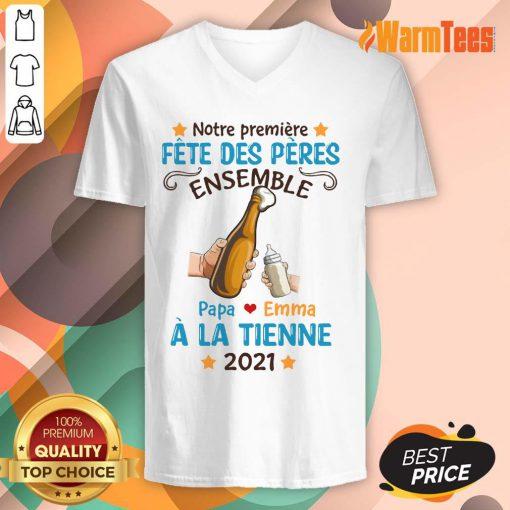 Fete Des Peres Ensemble À La Tienne 2021 V-neck