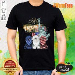 Freedom Sheepdog Statue Of Liberty USA Flag Shirt