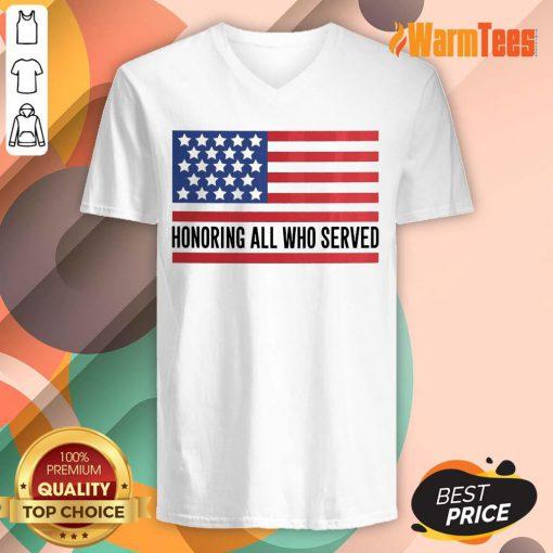 Honoring All Who Served American Flag V-neck